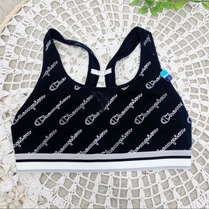 Champion NWT Spellout Sports Bra SZ L